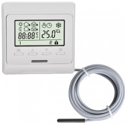 TH73Plus thermostaat  incl external sensor, inbouw programmeerbare thermostaat 230Vac
