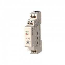 TM01 5~40˚C Din Rail thermostaat. vaste hysterese, wisselcontact 16A 250Vac