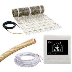 8m2, 3mm mat, E-mat/MDIR-50X1600, incl thermostaat en sensorbuis, 1240W