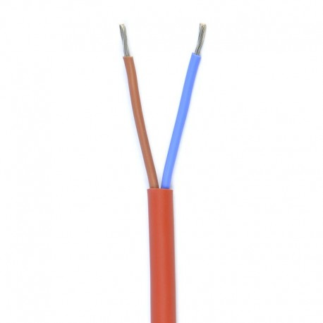 siliconen kabel HO7 2x1mm2 100mtr rood