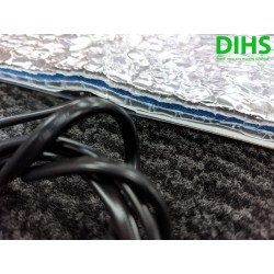 DIHS mirrorheater 14cm x 48cm 230Vac 12W met high tech isolatie 10mm